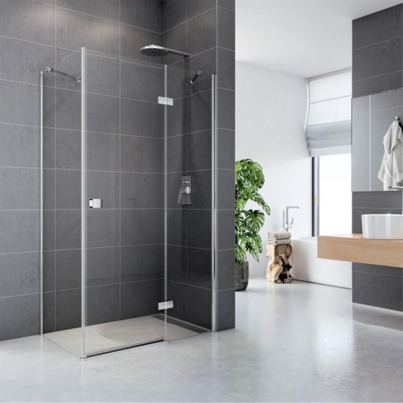 Mereo Sprchový kút, Fantasy, obdĺžnik, 120x100 cm, chróm ALU, sklo Číre, dvere a pevný diel CK10416H