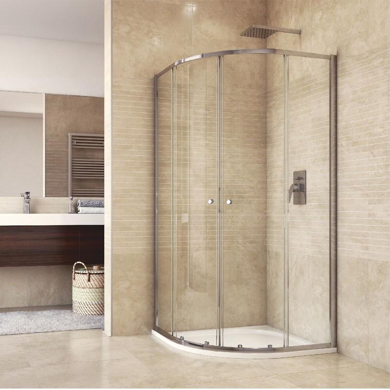 Mereo Kora Lite sprchový set: štvrťkruhový kout 90 cm, vanička, sifón CK35123HN
