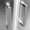 Mereo Sprchový box , štvrťkruh,100 cm, R550, satin, sklo Point, zada biele, so strieškou, liatá vanička CK35162MSW