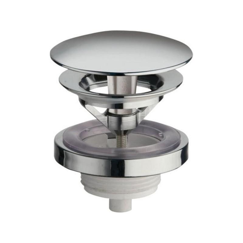 Silfra Neuzatvárateľná guľatá výpusť pre umývadla bez prepadu, V 5-60mm, chróm UD95051