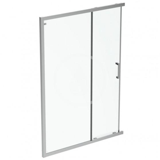 Posuvné sprchové dvere, dvojdielne, 750 mm, silver bright/číre sklo