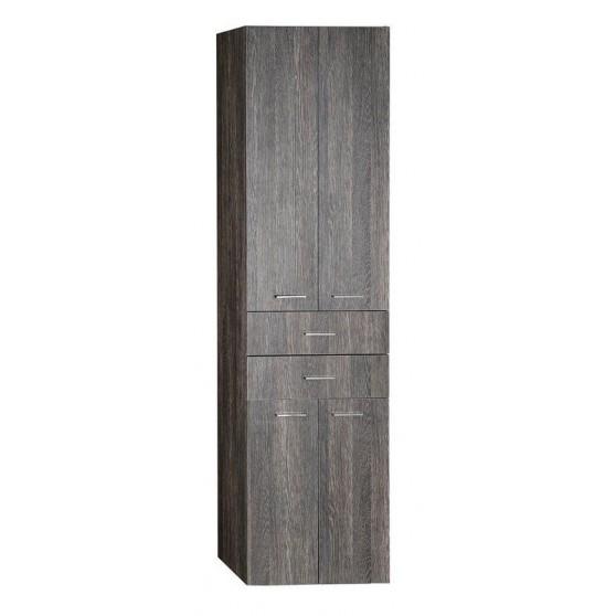 AQUALINE ZOJA/KERAMIA FRESH skrinka vysoká 50x184x29cm, mali wenge, zásuvky 51292