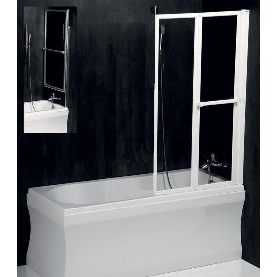Polysan LANKA2 pneumatická vaňová zástena 820mm, biely rám, číre sklo 37517