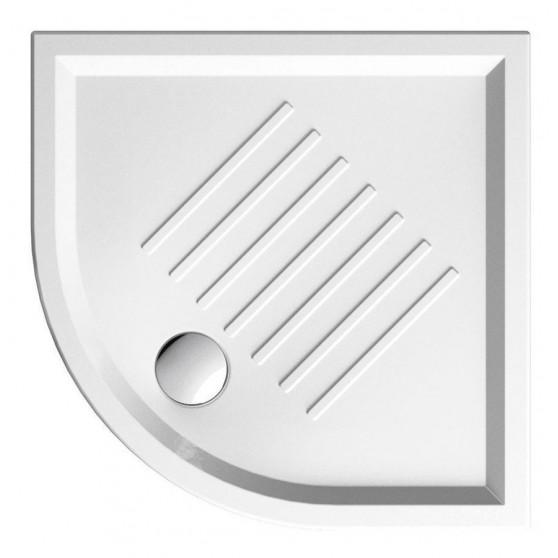 GSI Keramická sprchová vanička, štvrťkruh 90x90x6cm, R550 349711