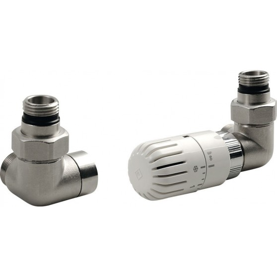 AQUALINE ECO pripojovacia sada ventilov termostatická, pravé, nikel CP9912R