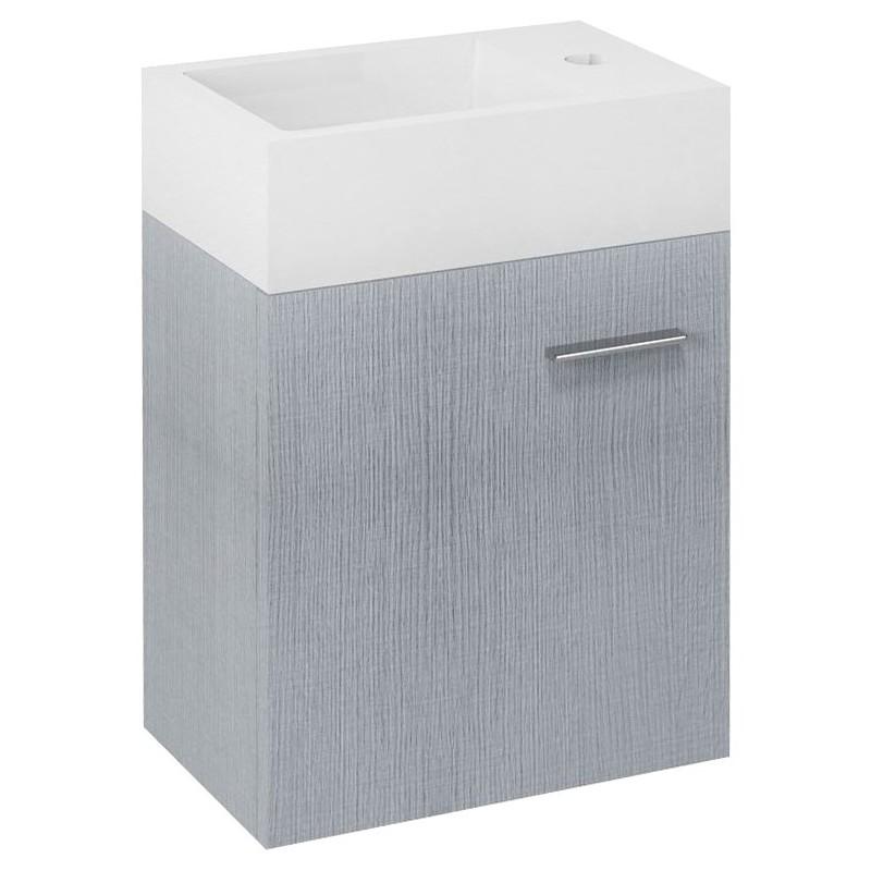 Sapho LATUS V umývadlová skrinka 35,6x40x23cm, dub strieborný LT056-1111