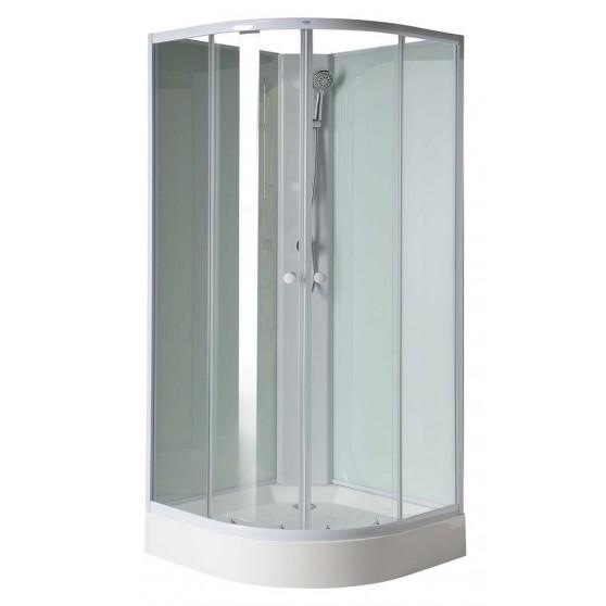 AQUALINE AIGO štvrťkruhová sprchová zástena 900x900x2060mm, číre sklo YB93