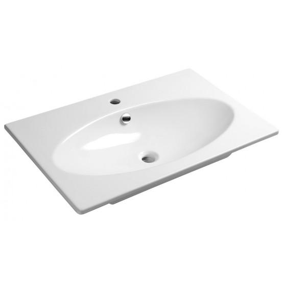 Sapho SISTEMA X keramické umývadlo 80x51cm, biela 10SX50080