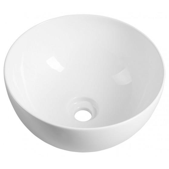 Sapho ETELA umývadlo priemer 40 cm x 20 cm, vrátane keramickej výpusti EL040