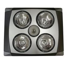 Sapho Stropný kúpeľňový infraohrievač s osvetlením a ventilátorom, 1240 W, chróm mat TC516