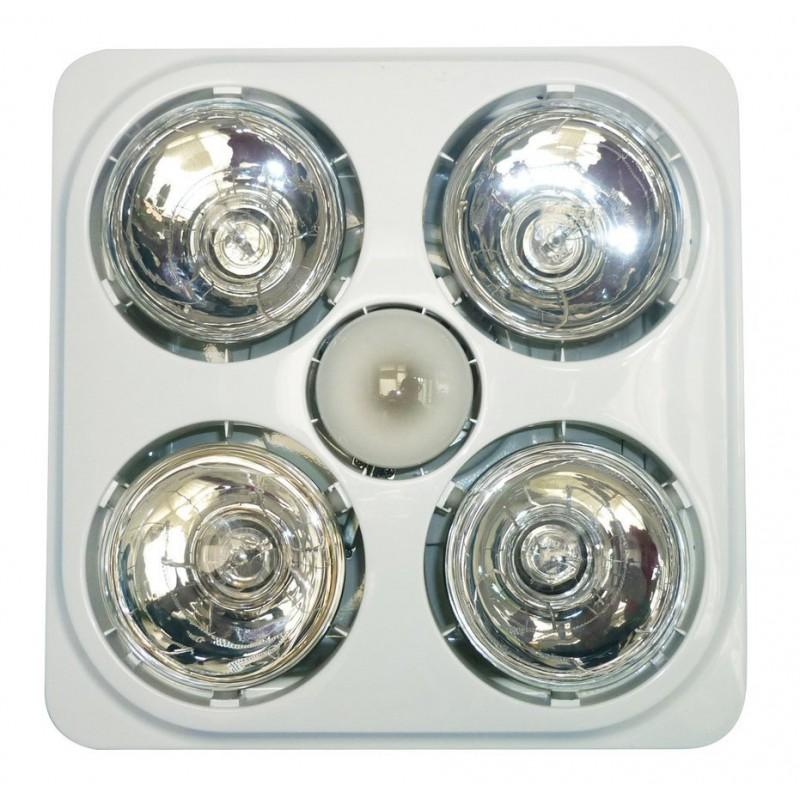 Sapho Stropný kúpeľňový infraohrievač s osvetlením a ventilátorom, 1240 W, biela TC545