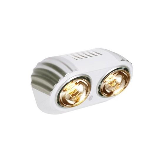 Sapho Stenový kúpeľňový infraohrievač, 550 W, bielo-strieborná TC618