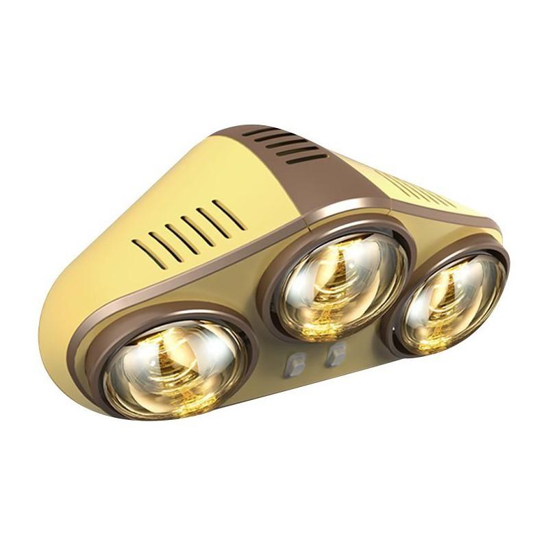 Sapho Stenový kúpeľňový infraohrievač, 735 W, zlatá TC625
