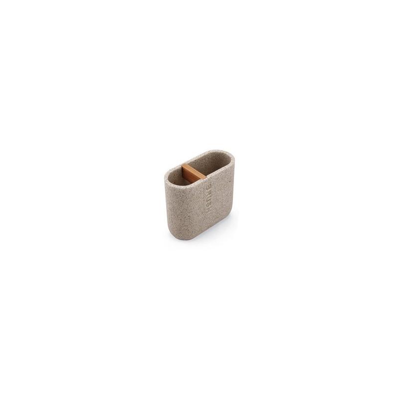 NIMCO - KORA dóza na kartáčky pískově béžová/bambus KO 24057-86 (KO 24057-86)