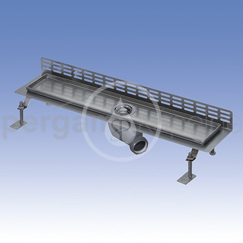 SANELA - Nerezové žlaby Nerezový koupelnový žlábek ke stěně, délka 1150 mm, lesk (SLKN 08B)
