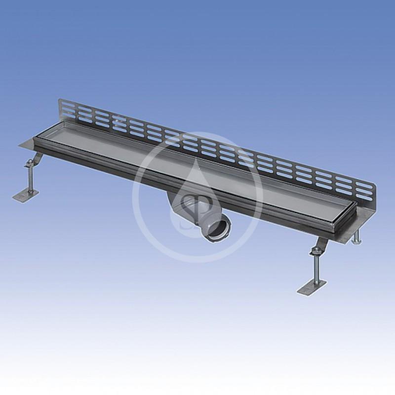 SANELA - Nerezové žlaby Nerezový koupelnový žlábek pro dlažbu ke stěně, délka 1150 mm (SLKN 16)