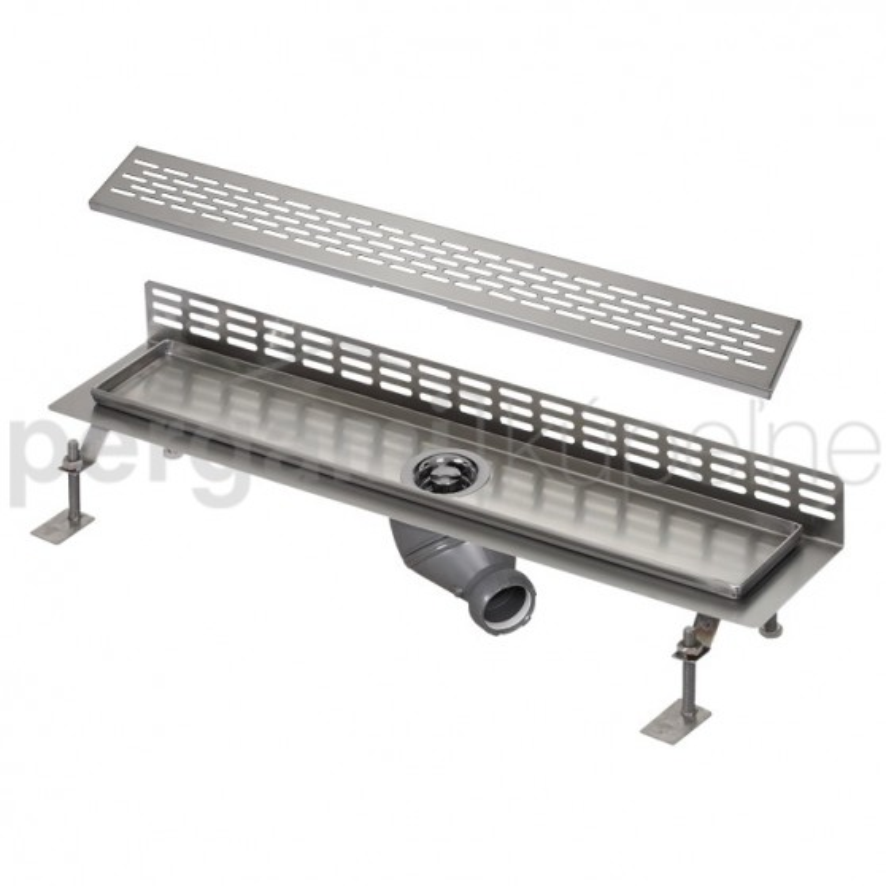 SANELA - Nerez SLKN 08E koupelnový žlábek ke stěně, délka 1200 mm, design E, lesk SL 69085 (SL 69085)