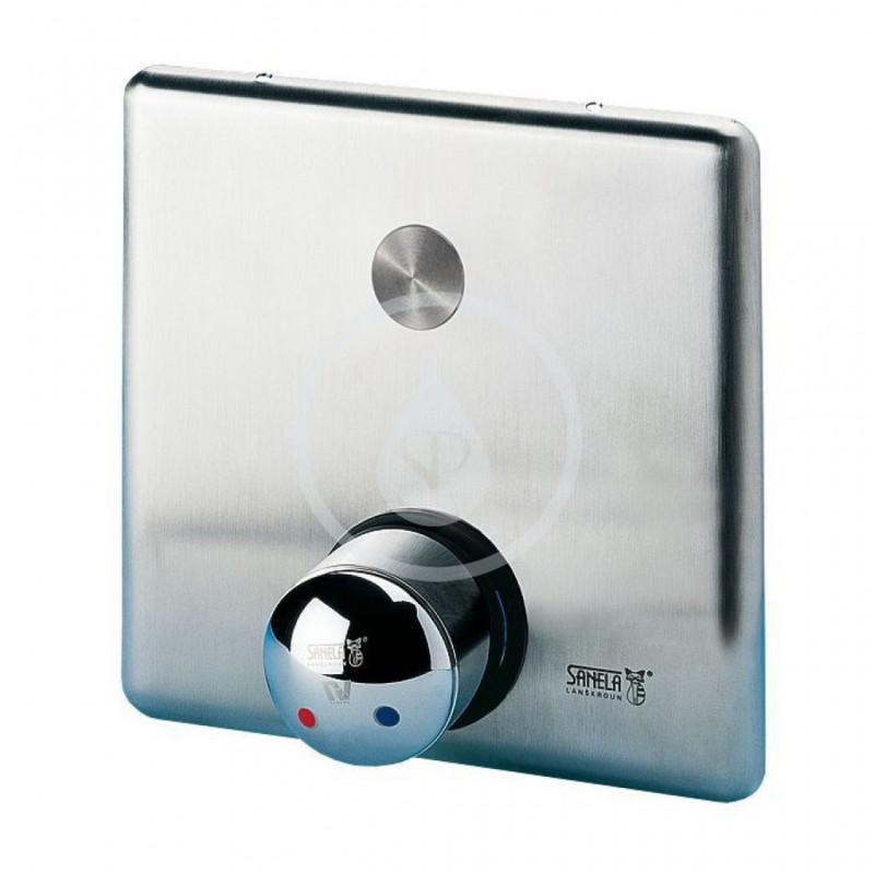 SANELA - Nerezové příslušenství Sprchová armatura s piezo tlačítkem-pro dvě vody, regulace míchací baterií (SLZA 20PH)