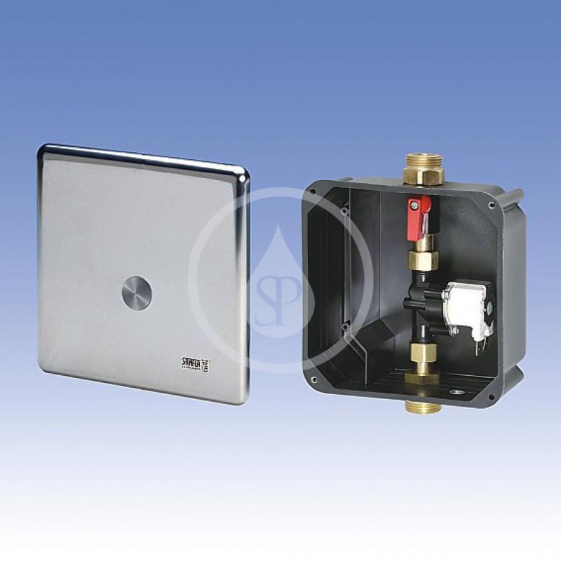 SANELA - Senzorové sprchy Ovládání sprch piezo tlačítkem pro jednu vodu pro bateriové napájení, chrom (SLS 01PB)