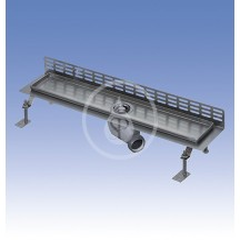 SANELA - Nerezové žlaby Nerezový koupelnový žlábek ke stěně, délka 950 mm, lesk (SLKN 07C)