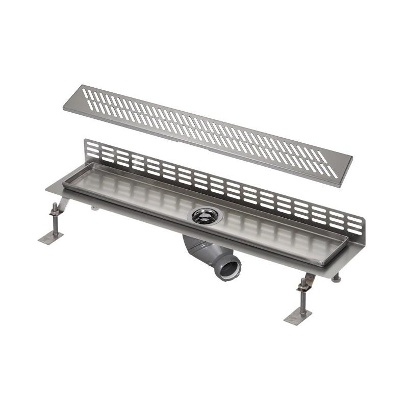 SANELA - Nerez SLKN 07DX koupelnový žlábek ke stěně, délka 1000 mm, design D, mat SL 68074 (SL 68074)