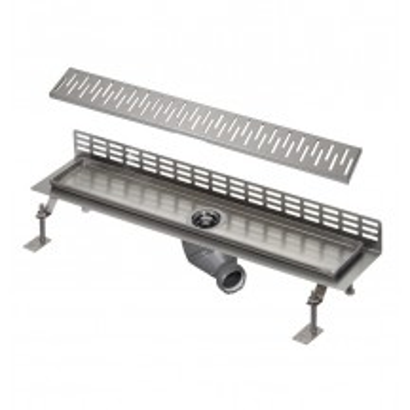 SANELA - Nerez SLKN 07C koupelnový žlábek ke stěně, délka 1000 mm, design C, lesk SL 69073 (SL 69073)