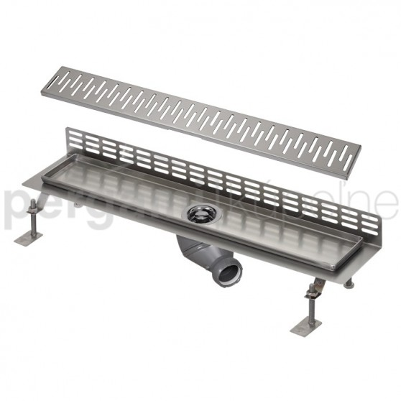 SANELA - Nerez SLKN 07CX koupelnový žlábek ke stěně, délka 1000 mm, design C, mat SL 68073 (SL 68073)