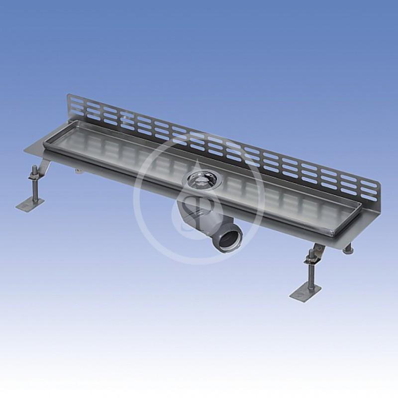 SANELA - Nerezové žlaby Nerezový koupelnový žlábek ke stěně, délka 850 mm, mat (SLKN 18CX)