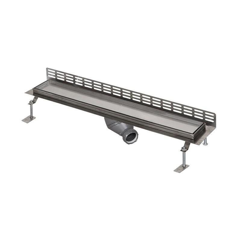 SANELA - Nerez SLKN 14 koupelnový žlábek, ke stěně, pro dlažbu, délka 850 mm SL 69140 (SL 69140)