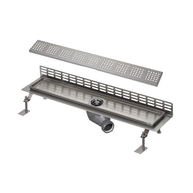 SANELA - Nerez SLKN 06FX koupelnový žlábek ke stěně, délka 800 mm, design F, mat SL 68066 (SL 68066)