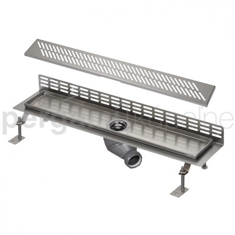 SANELA - Nerez SLKN 06DX koupelnový žlábek ke stěně, délka 800 mm, design D, mat SL 68064 (SL 68064)
