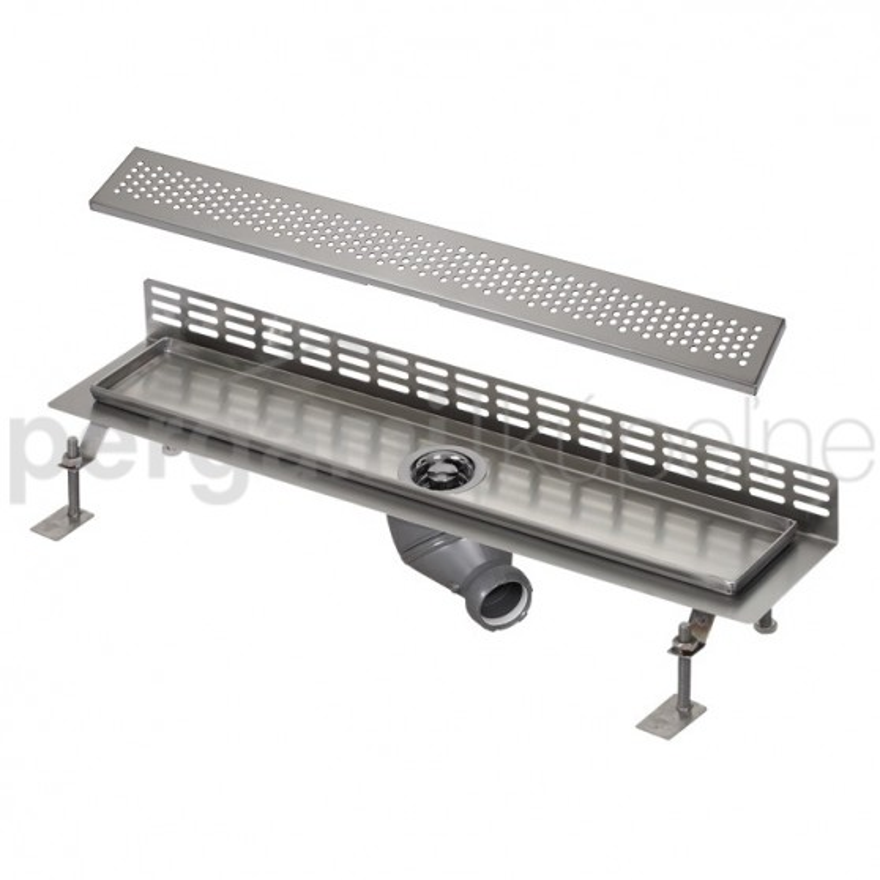 SANELA - Nerez SLKN 06B koupelnový žlábek ke stěně, délka 800 mm, design B, lesk SL 69062 (SL 69062)