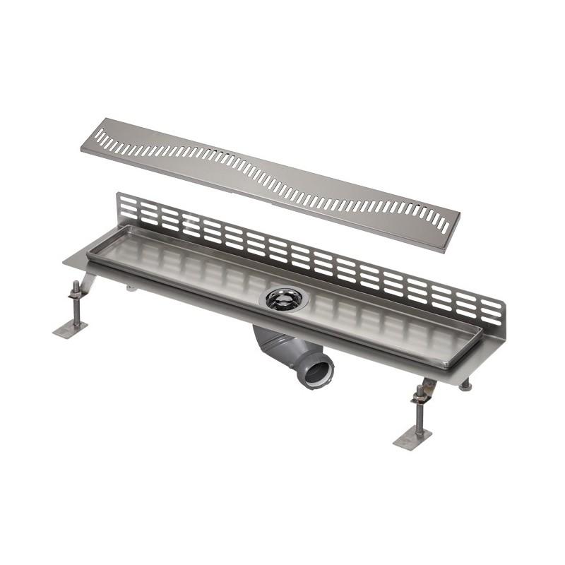 SANELA - Nerez SLKN 06A koupelnový žlábek ke stěně, délka 800 mm, design A, lesk SL 69061 (SL 69061)