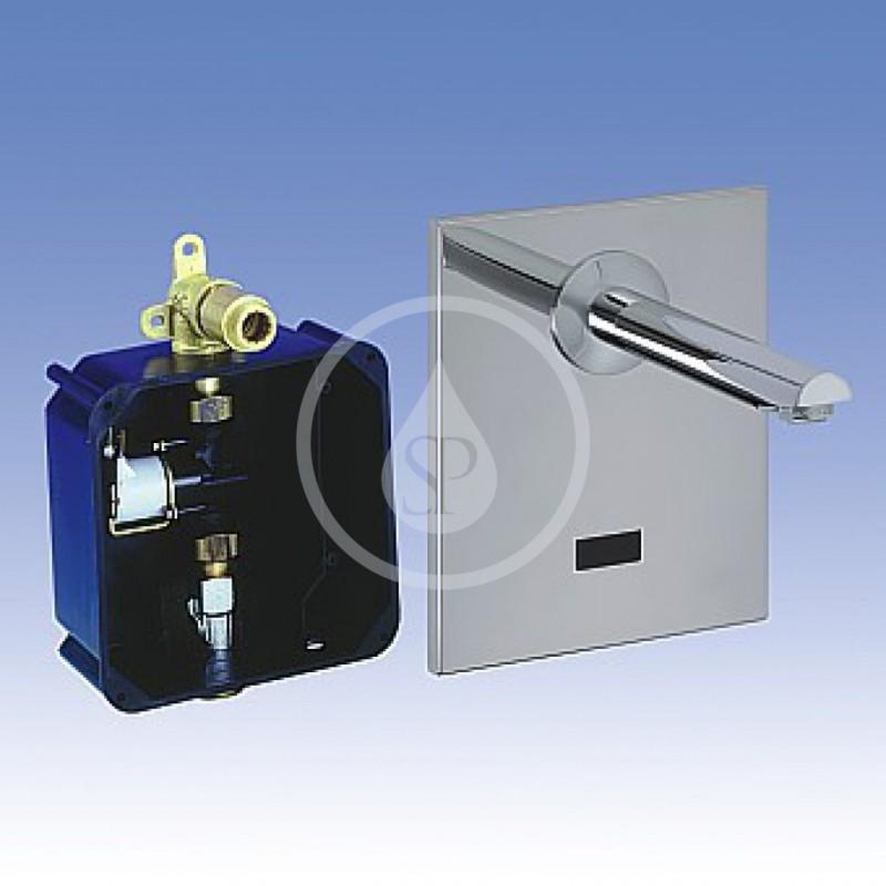 SANELA - Senzorové baterie Umyvadlová baterie nástěnná, chrom (SLU 04H25)