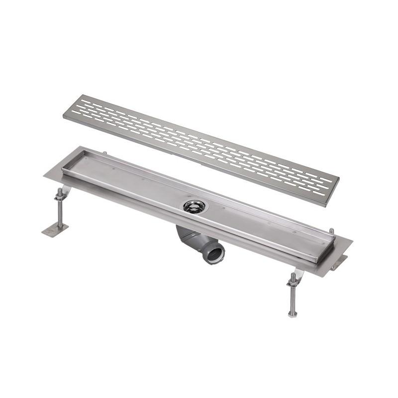 SANELA - Nerez SLKN 04EX koupelnový žlábek do prostoru, délka 1000 mm, design E, mat SL 68045 (SL 68045)