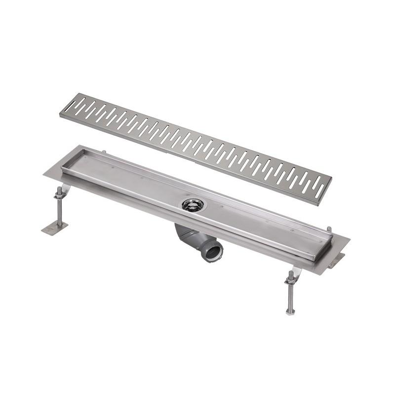SANELA - Nerez SLKN 04CX koupelnový žlábek do prostoru, délka 1000 mm, design C, mat SL 68043 (SL 68043)