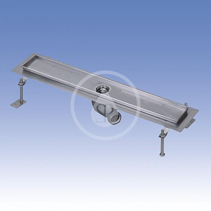 SANELA - Nerezové žlaby Nerezový koupelnový žlábek do prostoru, délka 850 mm, lesk (SLKN 17C)