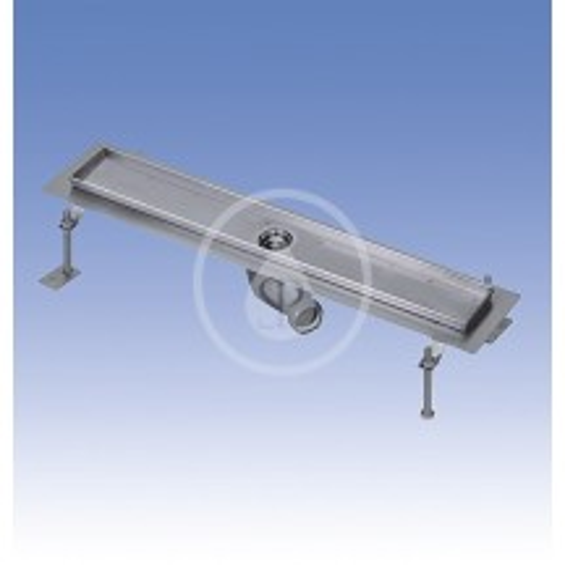 SANELA - Nerezové žlaby Nerezový koupelnový žlábek do prostoru, délka 850 mm, lesk (SLKN 17A)