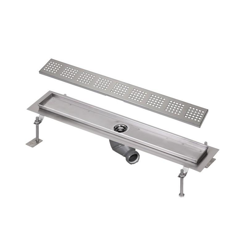 SANELA - Nerez SLKN 03FX koupelnový žlábek do prostoru, délka 800 mm, design F, mat SL 68036 (SL 68036)