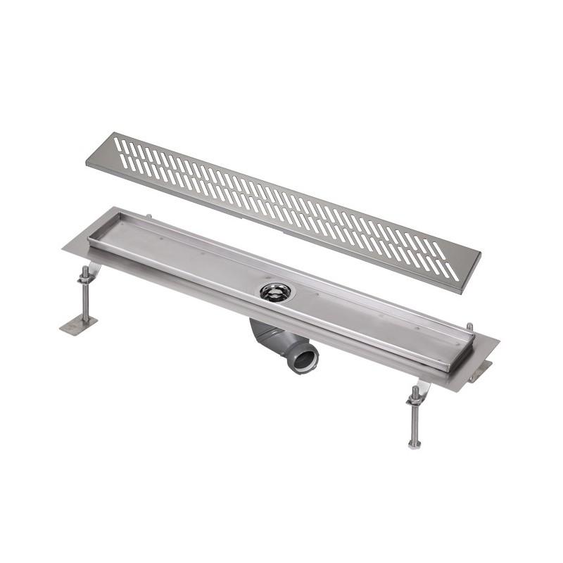 SANELA - Nerez SLKN 03DX koupelnový žlábek do prostoru, délka 800 mm, design D, mat SL 68034 (SL 68034)