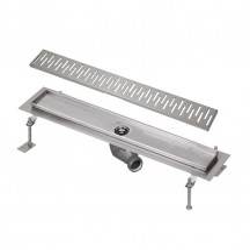 SANELA - Nerez SLKN 03CX koupelnový žlábek do prostoru, délka 800 mm, design C, mat SL 68033 (SL 68033)