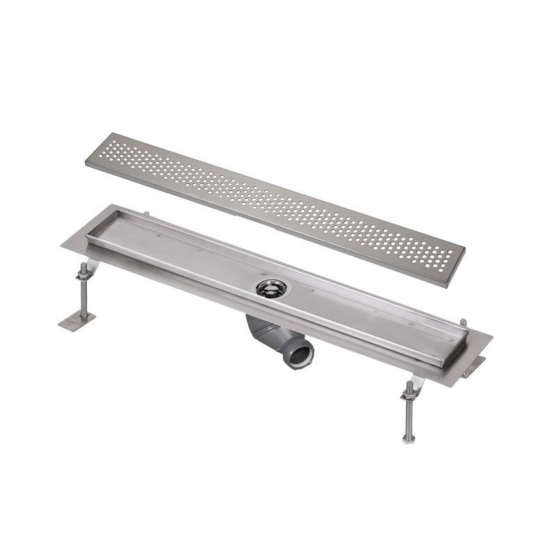 SANELA - Nerez SLKN 03BX koupelnový žlábek do prostoru, délka 800 mm, design B, mat SL 68032 (SL 68032)