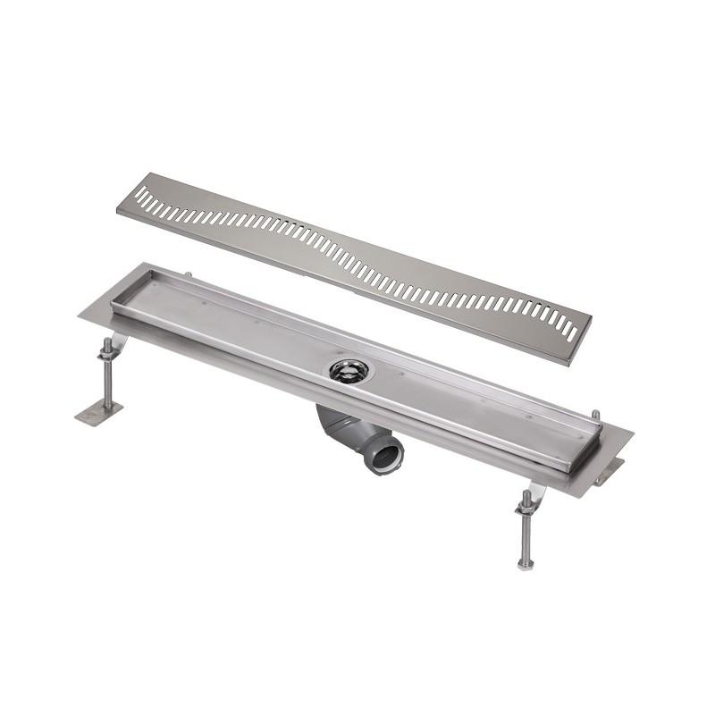 SANELA - Nerez SLKN 03AX koupelnový žlábek do prostoru, délka 800 mm, design A, mat SL 68031 (SL 68031)