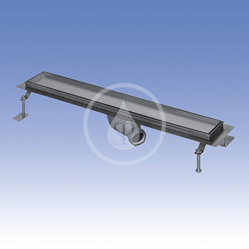 SANELA - Nerezové žlaby Nerezový koupelnový žlábek pro dlažbu do prostoru, délka 750 mm (SLKN 09)