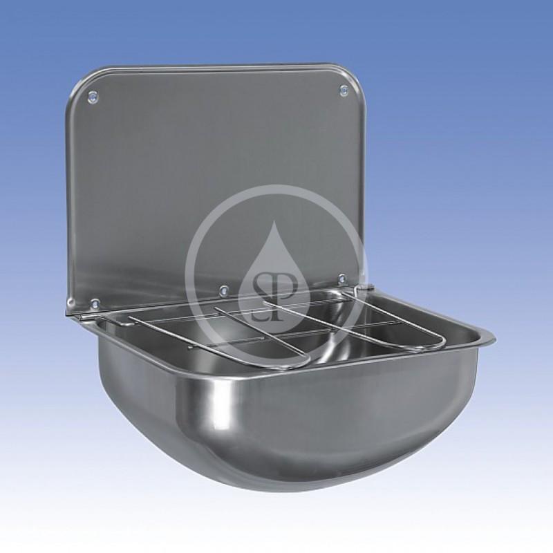 SANELA - Nerezové výlevky Výlevka závěsná 430x320 mm, nerez (SLVN 05)