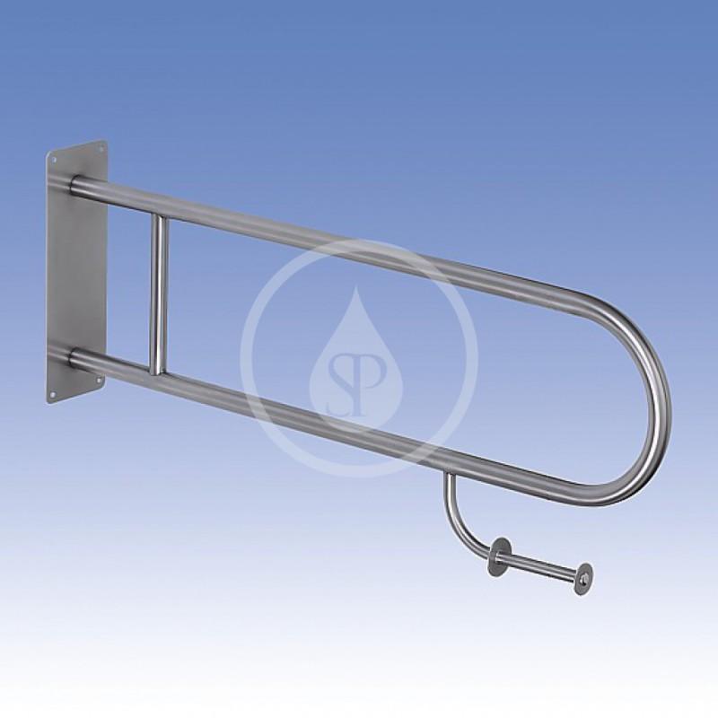 SANELA - Nerezové doplňky Nerezové madlo pevné s držákem toaletního papíru 900 mm, matný povrch (SLZM 03DXP)