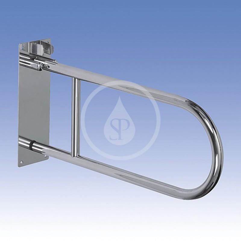 SANELA - Nerezové doplňky Nerezové madlo sklopné délka 830 mm, lesklý povrch (SLZM 03SD)