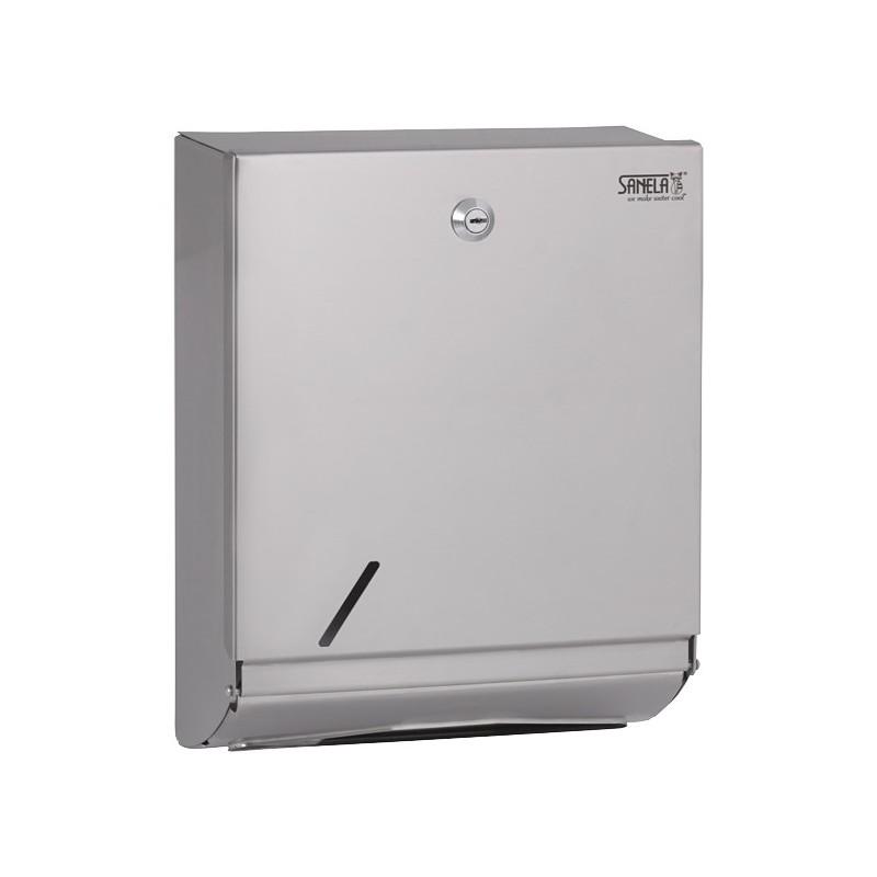 SANELA - Nerez SLZN 20X zásobník pap.ručníky, povrch hladký (matný) SL 95201 (SL 95201)