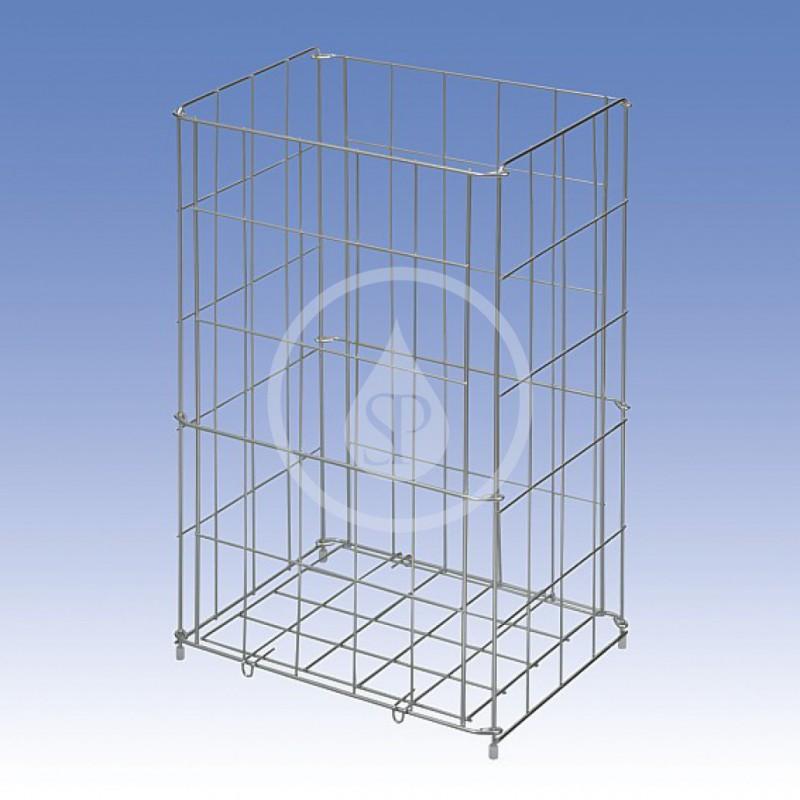 SANELA - Nerezové odpadkové koše Drátěný koš, rozměr 540 x 340 x 260 mm, nerez (SLZN 43)