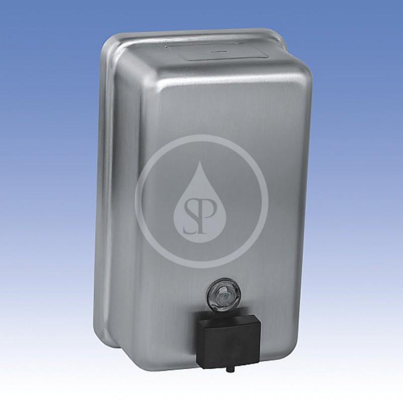 SANELA - Nerezové doplňky Dávkovač tekutého mýdla, obsah 1,2 l, nerez (SLZN 39)